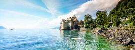 Chillon castle at Montreux