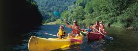 TGV Lyria - Family travel on a Swiss river in summer