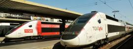 TGV Lyria - trains running to station